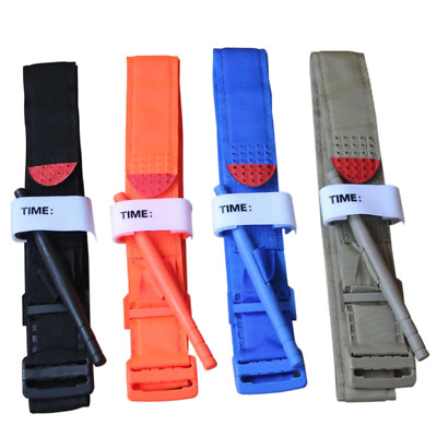 Easy Use Medical Tourniquet Police Tactical Emergency Combat Application Red Tip