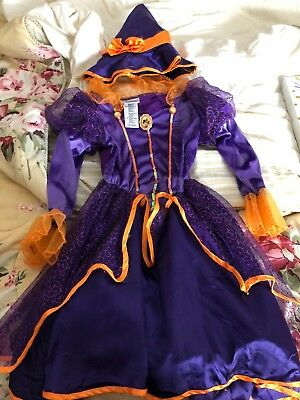 DISNEY STORE MINNIE MOUSE PURPLE WITCH DRESS GIRLS COSTUME HALLOWEEN Small