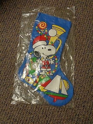 Vintage 1958 Peanuts Christmas Snoopy Stocking United Feature Syndicate Inc. NEW