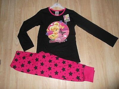 New Girls Disney Fairies Tinkerbell Pyjamas Pjs 7 8 9 10 11 12 Years