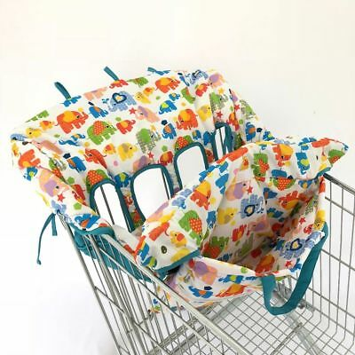 Shopping Cart Double Cover Twin Or Baby Siblings Guaranteed Fit Grocery Stores