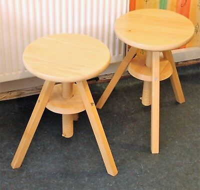 Wooden stools,rotating top,IKEA