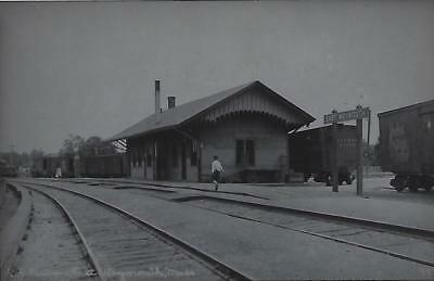 East Weymouth, Massachusetts Railroad Depot Real Photo Postcard- RPPC