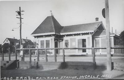 Ingalls, Massachusetts Railroad Depot Real Photo Postcard- RPPC