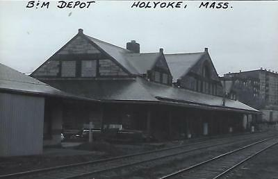 Holyoke, Massachusetts Railroad Depot Real Photo Postcard- RPPC