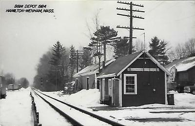 Hamilton-Wenham, Massachusetts Railroad Depot Real Photo Postcard- RPPC