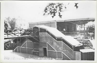 Highland, Massachusetts Railroad Depot Real Photo Postcard- RPPC