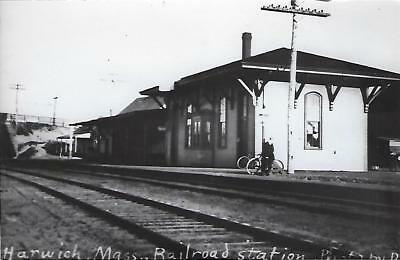 Harwich, Massachusetts Railroad Depot Real Photo Postcard- RPPC