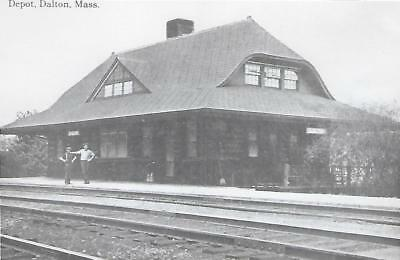 Dalton, Massachusetts Railroad Depot Real Photo Postcard- RPPC