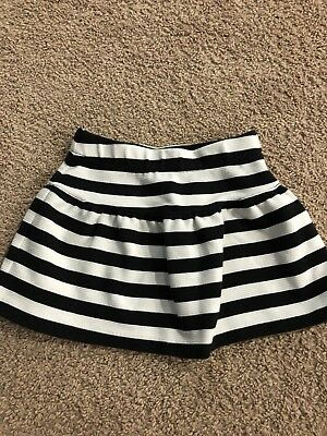 Janie and Jack Black and White Striped Skirt, Size 3