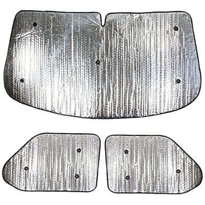 3 Piece Internal thermal blind sunshades for a VW T6 year 2016 onwards van