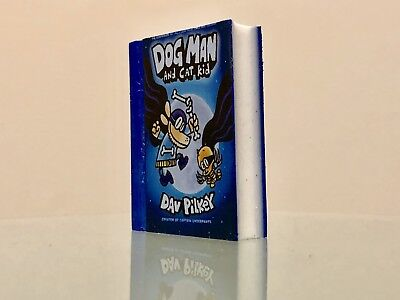 Dav Pilkey Dog Man And Cat Kid Collectible Eraser New from Special Event