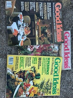 Lot Of 3 Vintage 1980 And 1982 Armstrong Good Ideas Magazine