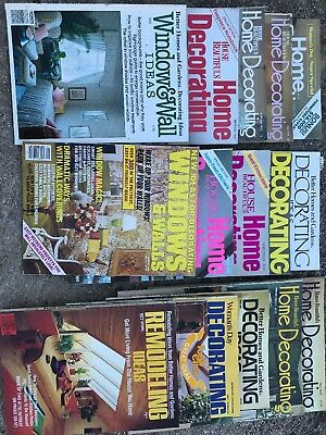 Lot Of 16 Vintage Decorating And Remodeling Magazines