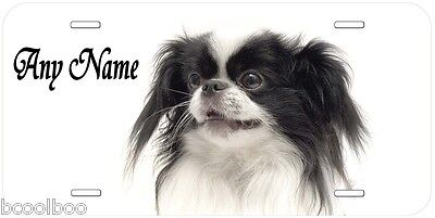 Japanese Chin Dog Any Name Pesonalized Car License Plate