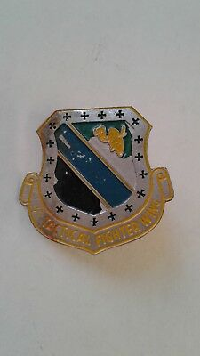 Authentic Beercan Insignia US Air Force 3rd Tactical Fighter Wing DUI Unit Crest