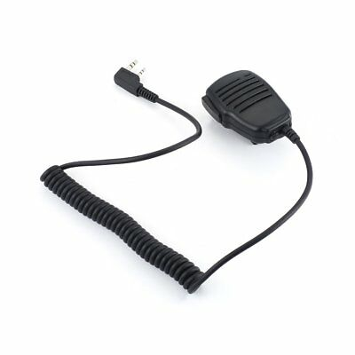 Shoulder Speaker Mic 2Pin Microphone For KENWOOD Baofeng BF-888s UV-5R Radios GH