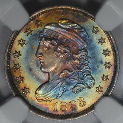 1833 H10 Ngc Ms67 *star* Beautiful Color!
