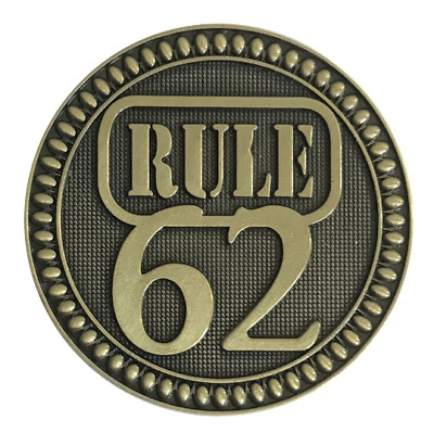 Alcoholics Anonymous Rule 62 Premium Bronze AA Recovery coin token medallion