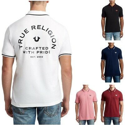 082a60c5 TRUE RELIGION MEN'S Crafted With Pride Short Sleeve Polo Shirt ...