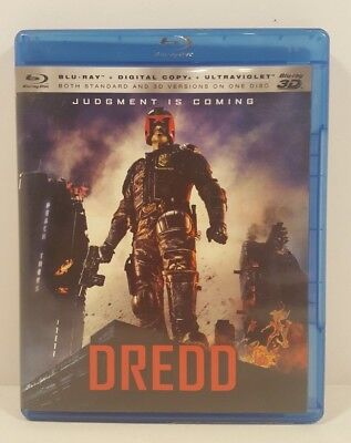 Dredd 3D Blu Ray 3D + Digital HD Download Code 2D version included