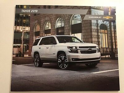 2019 CHEVY TAHOE 28-page Original Sales Brochure