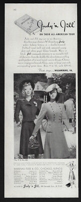 1940 Vintage Print Ad 40's JUDY JILL woman's fashion image style mannequin