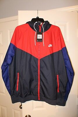 Details about Nike Air Windrunner Jacket Navy Blue Red Teal Shark Sz 2XL 727324 658