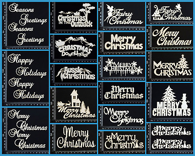 White Chipboard - Christmas - Collection One