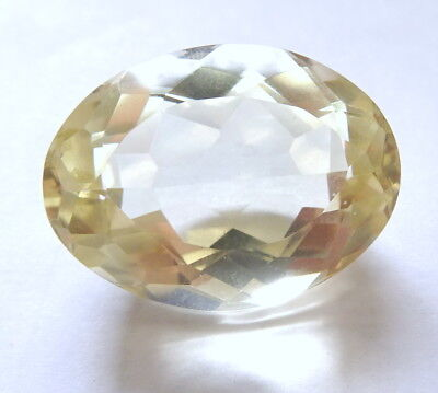 Victorian Faceted Oval 9 gm Citrine Cabochon for re use