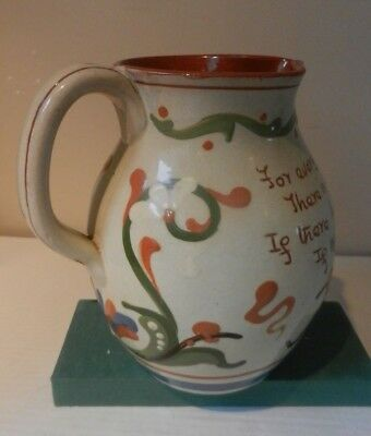 Aller Vale LARGE Pottery Motto Jug - HH & Co  #906