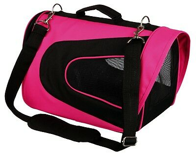 Alina Transport Carrier for Small Cats & Animals Guinea Pigs Rabbits (pink)