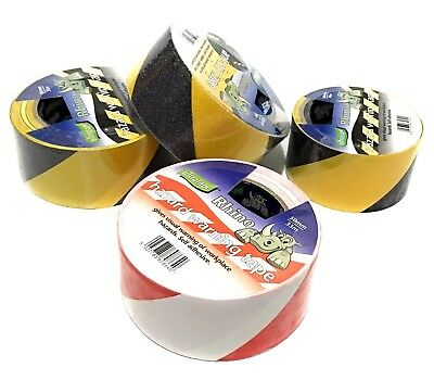 Hazard Warning Tape Self Adhesive for Workplace Steps Ladder and Dangerous area.