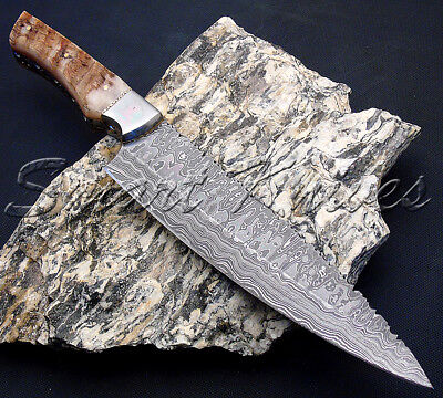 Smart Knives Custom Hand Made Damascus Steel Kitchen Hunting Chef Knife