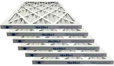 Atomic 16x25x1 Merv 8 Pleated Ac Furnace Filter - Case of 6
