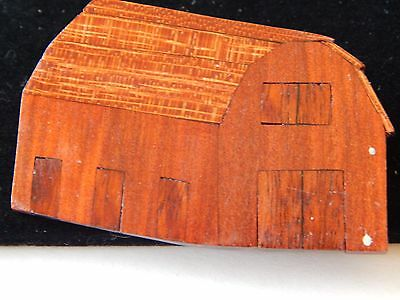 Vintage Wood House Farm Barn Brooch Pin UNIQUE FREE SHIPPING