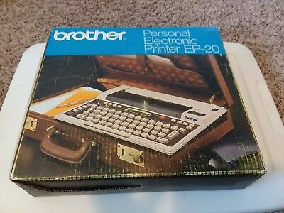 Vintage Brother Personal Electronic Printer EP-20 Word Processor Battery Power