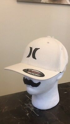 the latest f1eb0 bc2ae ... france hurley white black mens hat size l xl flexfit cap brand new with  tags 34947