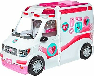 Barbie Care Clinic Vehicle Ambulance Kids Toy Van Hospital Pretend Play Girls