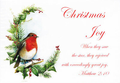 S31 Charity Christmas Cards Packet of 10 With Bible text