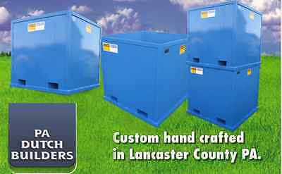 Amish Bulk Bin Hopper Dumpster Container 4000 LBS Capacity Fork Lift Operation
