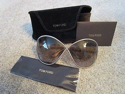 Tom Ford Tf131 57F Pink Lilliana Brown Gradient Authentic Sunglasses W case  115 b81146a480d