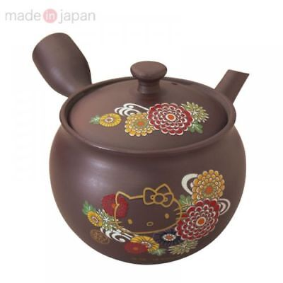 "New Sanrio Hello Kitty  "" Banko Yaki "" Japanese Tea pot Kyusu"
