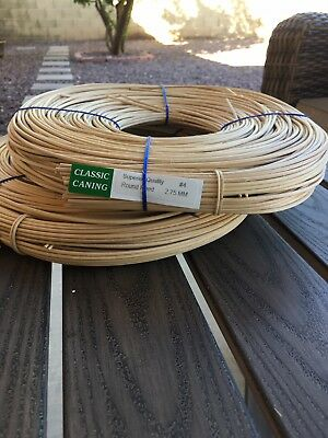 Classic Caning Basket Round Reed #4 2.75mm Lot Of 2