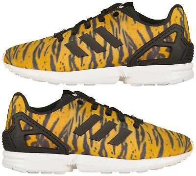 Adidas Originals Junior Girls infant ZX Flux Animal Print Trainers New and Boxed