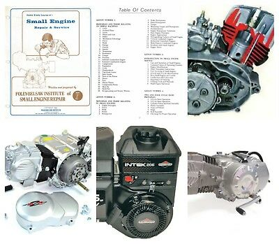 Home Study Course of Small Engines, Briggs + Stratton Repair Manuals + Videos