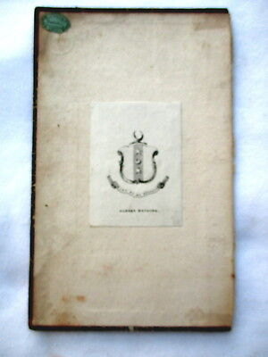 ALBERT BOUDIER Bookplate Family Crest & Coat of Arms
