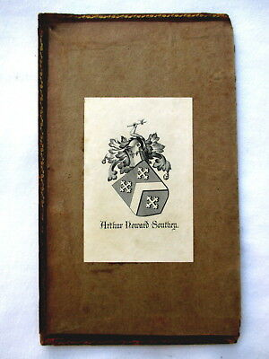 ARTHUR HOWARD SOUTHEY, Bookplate Family Crest & Arms