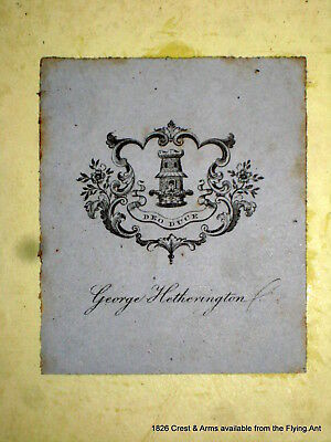 GEORGE HETHERINGTON, Bookplate Family Coat of Arms