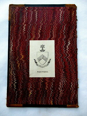 JASPER PECK Bookplate Family Crest & Coat of Arms